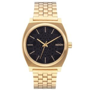 Nixon Time Teller Watch Gold/Black/Stamped Face